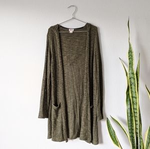 Mossimo Open Long Pocket Cardigan
